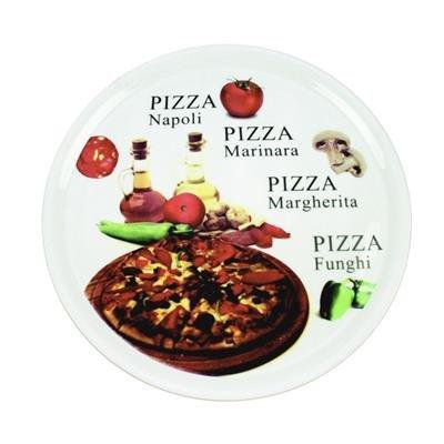 Assiette à pizza en porcelaine décorée 31cm Bianca 2645541 - réception - Lot de 6