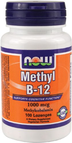 NOW Foods Methyl B-12 1000mcg, 100 Lozenges