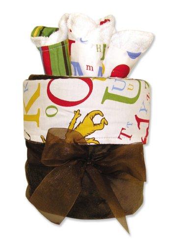 Trend Lab Blanket Gift Cake, Dr Seuss ABC Print