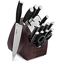 Calphalon Contemporary 15-Piece Knife Block Set with Sharp-In Technology (Black/Silver)