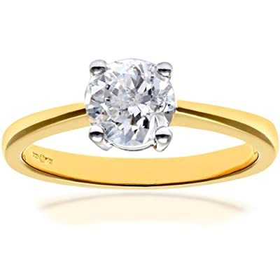Naava 18ct Engagement Ring, IJ/I Certified Diamond, Round Brilliant, 1.00ct
