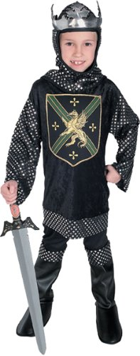 Warrior King Child Costume, Black, Large [Office Product]