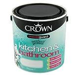 Crown Kitchen & Bathroom Midsheen With Mouldguard 2.5L Snowdrop