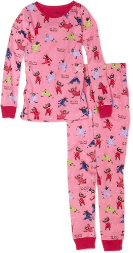 Girls Cat'S Pink Polo Pajama