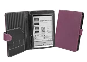 Cover-Up Sony Reader PRS-T1 / PRS-T2 Leather Cover Case (Book Style) - Purple