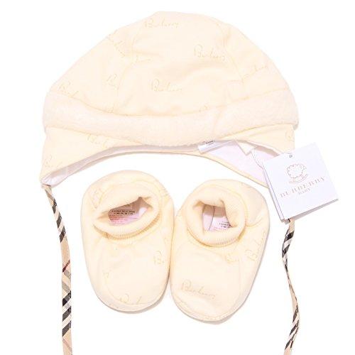 6371I set cuffia babbucce bimbo bimba BURBERRY BABY hat slippers kids unisex [9 MESI]