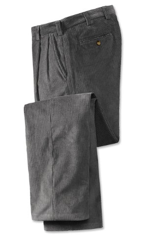 Bozeman Corduroy Trousers / Pleated, Slate, 32