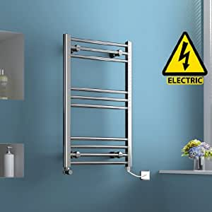 800 X 500 Mm Electric Heated Towel Rail Chrome Straight