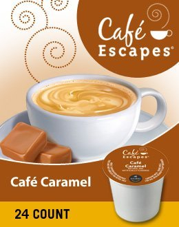 Cafe Escapes Cafe Caramel Coffee (1 Box Of 24 K-Cups) front-636510