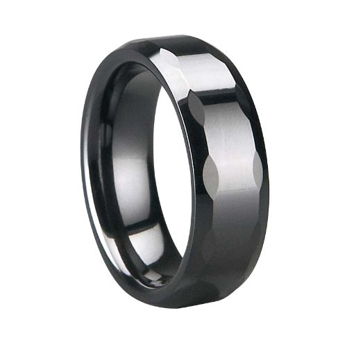 Ceramic Ring , Faceted & Polished Shiny ,Thickness:2.5 Mm Width: 7 Mm, Free Logo Making Free Gift Box
