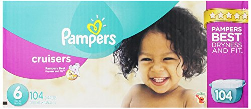 Pampers Cruisers Diapers Size 6 Economy Pack Plus 104 Count