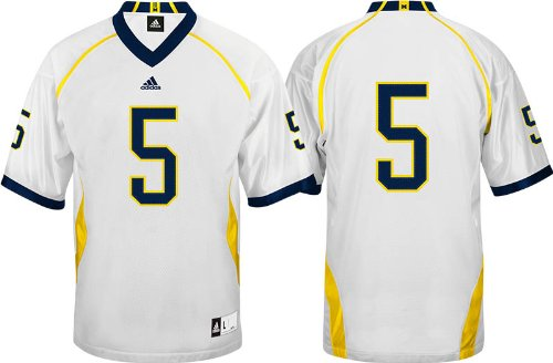 adidas Michigan Wolverines #5 Premier Tackle Twill Football Jersey - White (Small)