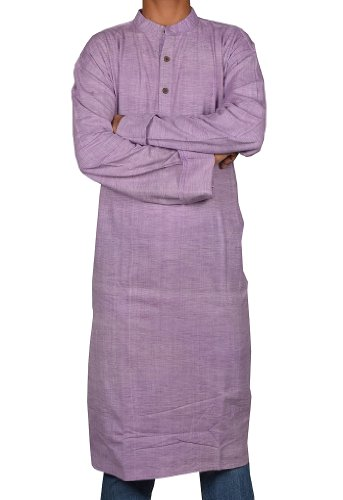 Traditional Casual Wear Indian Khadi Mens Long Kurta Fabric For Winter & Summers Size-8XL
