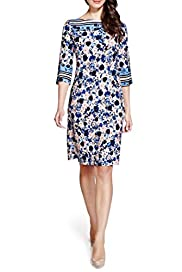 Per Una Poppy Print Tunic Dress [T62-6667J-S]