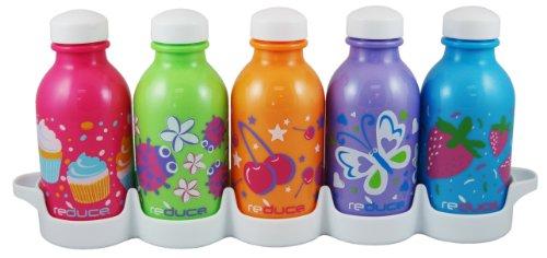 Reduce 01309 Waterweek Kids Simply Sweet Waterbottle, Set Of 5 front-29409