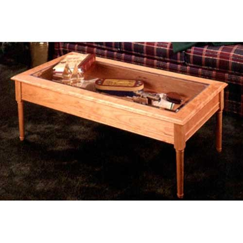 Glass-Topped Coffee Table: Downloadable Woodworking Plan