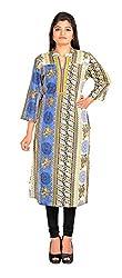 NARANGI BLUE RAYON KURTI Girls/Women in XXL Size