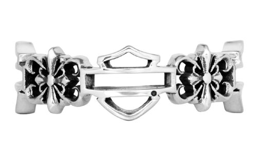 Harley-Davidson Womens .925 Silver Filigree Cross Band Ring by Mod Jewelry (7)