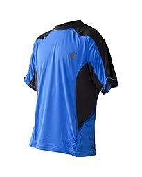 Body Glove Wetsuit Men\'s Performance Loose Fit Short Arm Shirt, Royal, X-Large