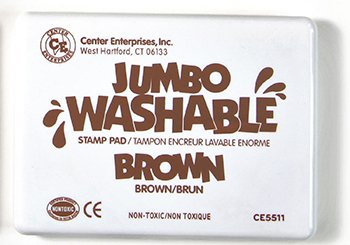 Jumbo Stamp Pad Brown Washable -- Case of 4