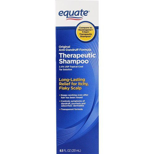 Equate Original Anti-Dandruff Formula Therapeutic Shampoo, 8.5 Fl Oz (2.5% Usp Topical Coal Tar Solution) Compare To Neutrogena T/Gel Therapeutic Shampoo front-852528