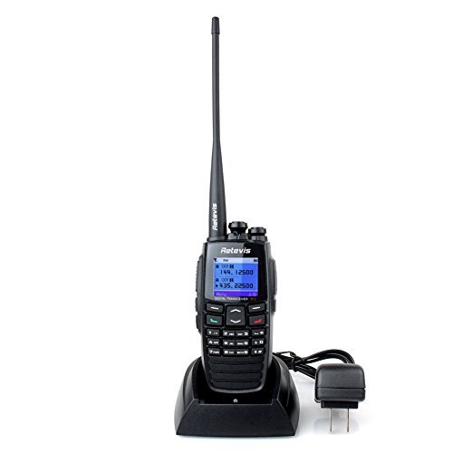 Retevis RT2 DPMR Digital 2 Way Radio Ham Amateur Radio VHF/UHF 136-174/400-470MHz 5W 256CH VOX Message Scrambler (Black) (Digital Ham Radio compare prices)