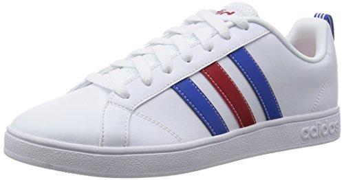 Adidas Vs Advantage Scarpe da corsa, Uomo, Bianco (Ftwwht/Blue/Powred), 44