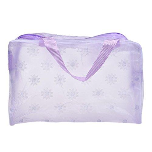 DDLBiz® Transparent Trousse / Sac / Étui à Accessoires de Toilette Beauté & Cosmétiques en PVC - Violet - Imperméable