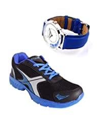 Elligator Sports Shoes With Lotto Blue Watch - B00WSA8M2S