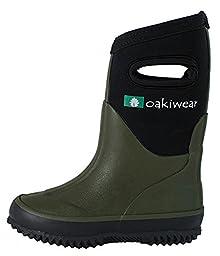 Children\'s Neoprene Rain Boots (3 Big Kid, Forest Green)