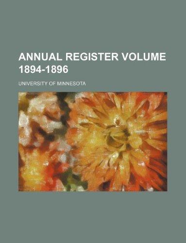 Annual Register Volume 1894-1896