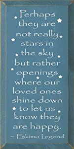 Perhaps They Are Not Really Stars In The Sky... - Eskimo Legend (small) Wooden Sign