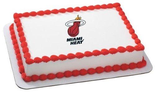 "6"" Round ~ NBA Miami Heat Basketball Logo ~ Edible Image Cake/Cupcake Topper!!!"