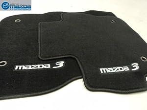 mazda 3 2010 2012 new oem black floor mats set of four automotive. Black Bedroom Furniture Sets. Home Design Ideas