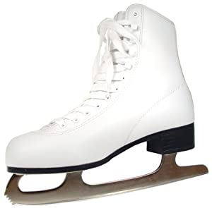 American Athletic Shoe Women's Tricot Lined Ice Skates, White, 5