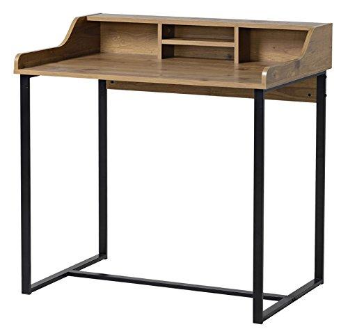 bonVIVO-Designer-Schreibtisch-AUDREY-moderner-SekretrSchminktisch-im-stilvollen-Mix-aus-Holz-in-Sand-Braun-Optik-und-eleganten-Stahlkufen-in-schwarz