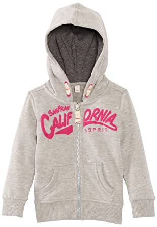 Esprit - sweat-shirt à capuche - fille - gris (gris chiné) - 116/122