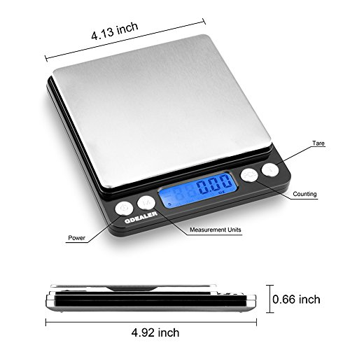 Gdealer digital pocket kitchen scale 3000g for 0 1g kitchen scales