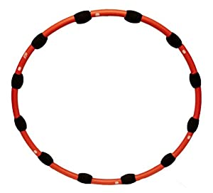 J Fit 3-Pound Segmented Hula Hoop, Red