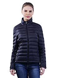 FINEQLO Women's Synthetic Quilted Jacket_Black_L