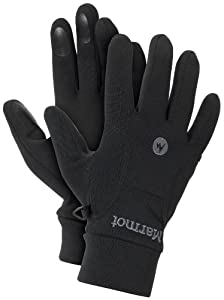 Marmot Men's Power Stretch Glove, Black, Medium