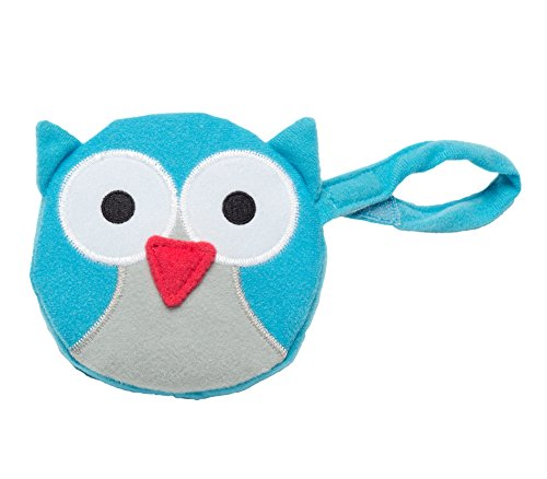 J.L. Childress Pacifier Pal Pacifier Pocket, Teal Owl