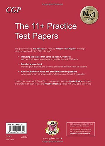 11+ Practice Test Papers for the Cem Test (Univ of Durham)