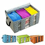 #4: Dtes Bamboo Charcoal Practical Foldable Clothing Storage Bag Box Clothes Closet Organizer