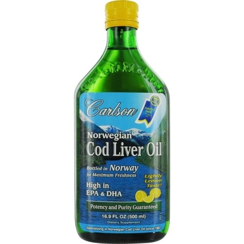 Carlson Norwegian Cod Liver Oil, Lemon 500 ml