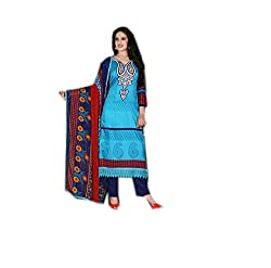 Krishna Collection Women's Cotton Unstitched Dress Material