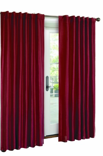Victoria Classics Interlined Faux Silk Panel- 54-Inch By 84-Inch, Red