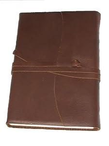 Ledertagebuch, Notizbuch, Amalfi, braun, 12 cm x 17 cm, handmade in Italy