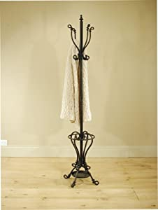TALL METAL HAT & COAT STAND, UMBRELLA STAND IN BLACK       review and more news