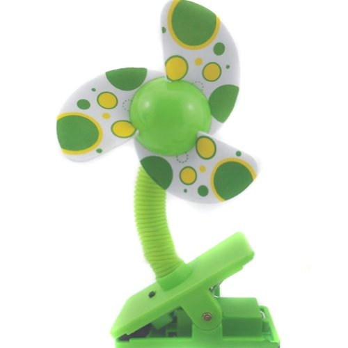 Eforstore Mini Safety Baby Clip-on Stroller Dual-use Usb/battery Cooling Fan (Green) - 1